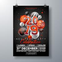 Poster di celebrazione del partito di Capodanno
