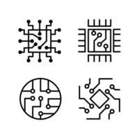 ingegneria informatica chip sistema informatico microschema elettronico vettore
