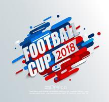 Illustrazione vettoriale per una tazza di calcio 2018.