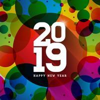 2019 illustrazione di felice anno nuovo
