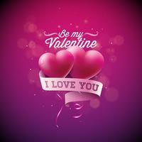 Sii la mia illustrazione di San Valentino vettore