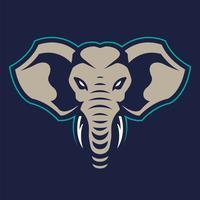Icona di vettore della mascotte dell'elefante
