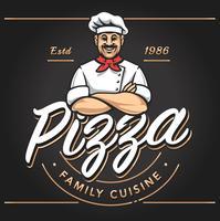 design emblema pizzeria vettore