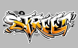 lettering di strada graffiti vettoriale