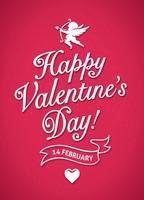 San Valentino Poster vettore