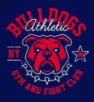 disegno dell'emblema del grunge del bulldog vettore