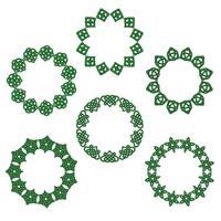 Cornici di cerchio nodo celtico di giorno di San Patrizio vettore
