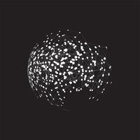 Globo del mondo su uno sfondo nero, illustrazione vettoriale