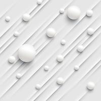 Fondo astratto variopinto con le palle e le linee per la pubblicità, illustrazione di vettore