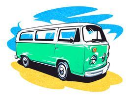 arte vettoriale hippie auto