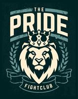 Emblem Design con Lion in Crown vettore