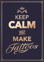 Realizza tatuaggi tipografici