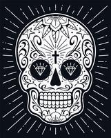 Vector il cranio messicano con i modelli
