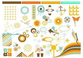 Pacchetto di elementi di disegno vettoriale