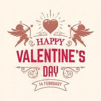 Cartolina di San Valentino vettore