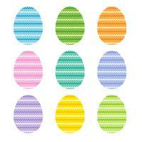 uova di Pasqua con strisce a zig zag vettore