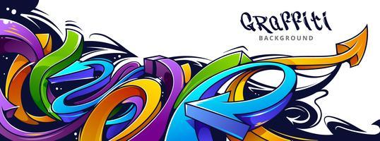 Graffiti frecce sfondo vettore