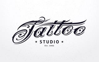 Tatuaggio Lettering vettore