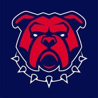 bulldog in mascotte di vettore del collare appuntito