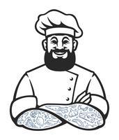 Icona di vettore del cuoco unico dei pantaloni a vita bassa