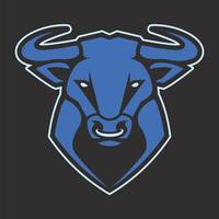 Icona di vettore della mascotte del toro