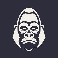 icona di vettore della mascotte della gorilla