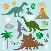 clipart di dinosauro vettore