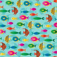 modello di sfondo di pesci tropicali