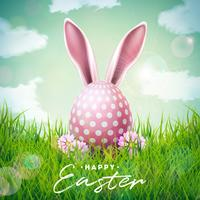 Buona illustrazione di vacanze di Pasqua vettore