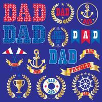 Grafica clipart di festa del papà nautico