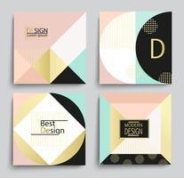 Set di elegante modello geometrico banner design. vettore