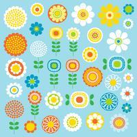 mod grafica clipart di fiori vettore