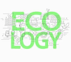 Concetto di stile di linea di ecologia. vettore