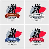 Super mommy o supermom logo design.