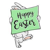 Buona Pasqua Bunny Banner. vettore