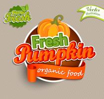 Logo Fresh Pumkin. vettore