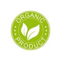 Icona del prodotto biologico. vettore