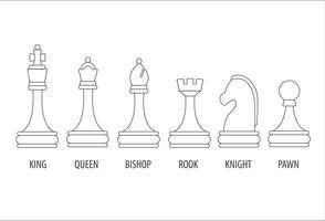 set di pezzi degli scacchi vettore