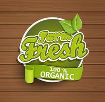 Farm etichetta fresca. vettore