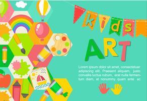 Poster artistico a tema Kids. vettore