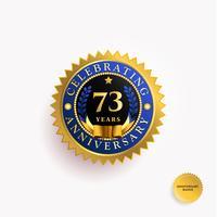 Distintivo d'oro anni anniversario vettore