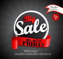 Grande vendita Black Friday vettore