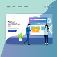 Modello di progettazione di pagine Web per la progettazione di pagine Web vettore