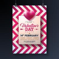 Progettazione Flyer festa di San Valentino
