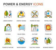 Set semplice di icone per l'industria energetica e l'energia per applicazioni per siti Web e dispositivi mobili vettore