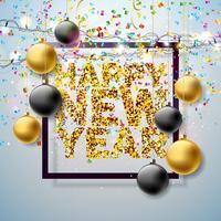 Felice anno nuovo illustrazione