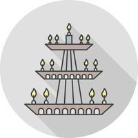 icona della lampada vettoriale