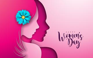8 marzo Design per la festa della donna vettore