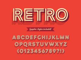 Grassetto 3D Retro Alphabet