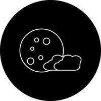 icona della luna vettoriale
